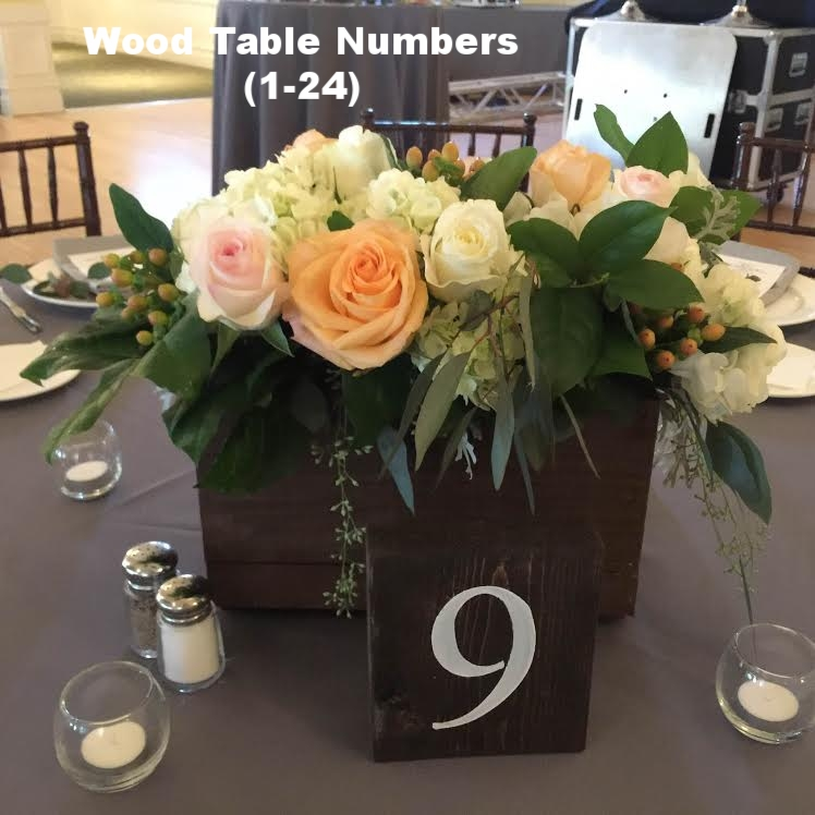 Wood Table Numbers (1-24)
