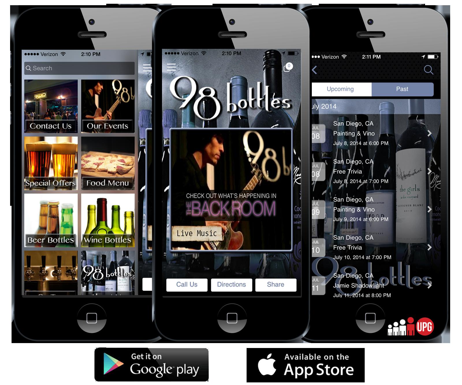 98 Bottles Mobile App