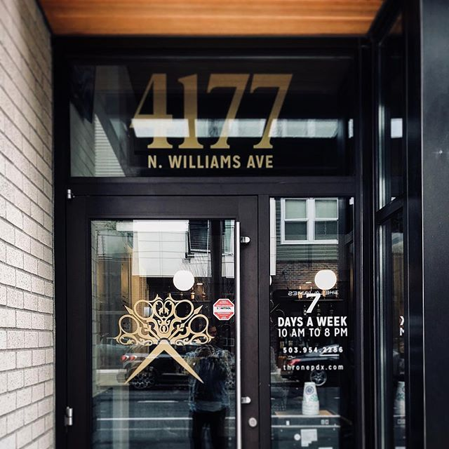 Live like a King ten hours a day, seven days a week. Book your appointment now at N. Williams or the Pearl at thronepdx.com #thronepdx