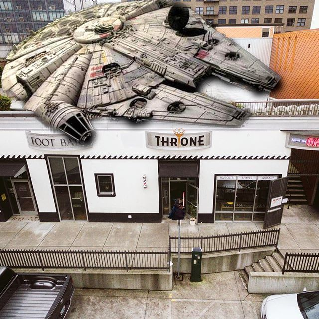 The Force is strong at Throne. #MayThe4thBeWithYou #thronepdx