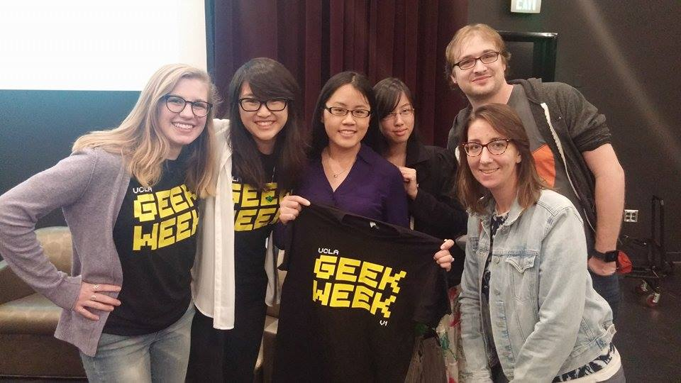 "Geek Week - One of our Enigma alums, Marissa Lee (center), was a speaker on the ""Nerd Girls"" panel"