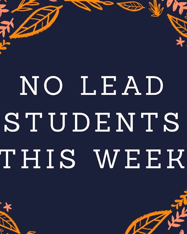 Hey y'all! Just a heads up, we will NOT be meeting tonight. Have a safe and fun night, and we'll see you next week!!