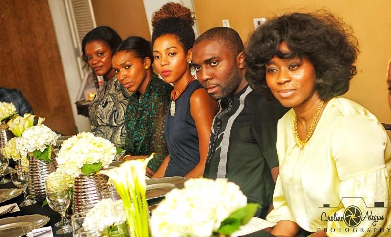 Dine Diaspora Signature Dinner guests at the table during dinner | Photo: Caroline Adegun Photography