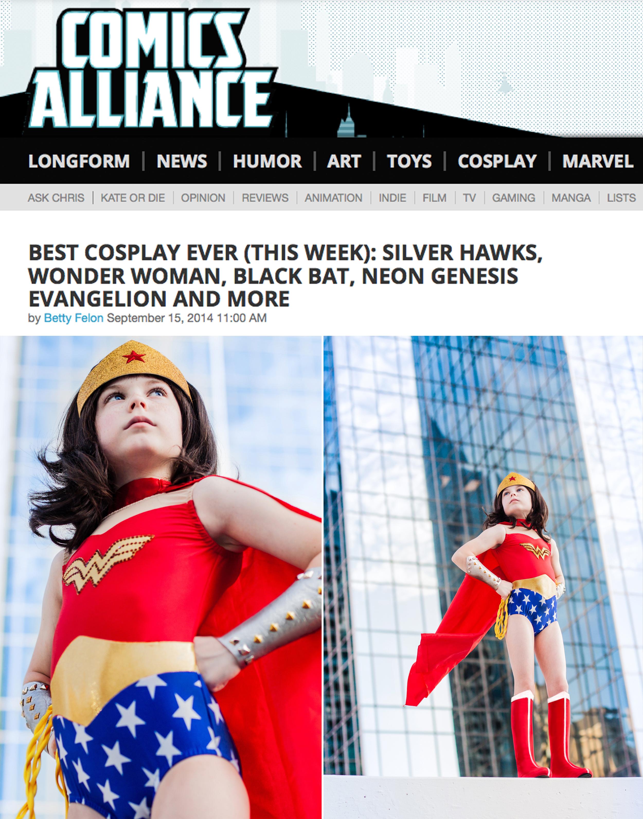 Alice Lewis as Wonder Woman