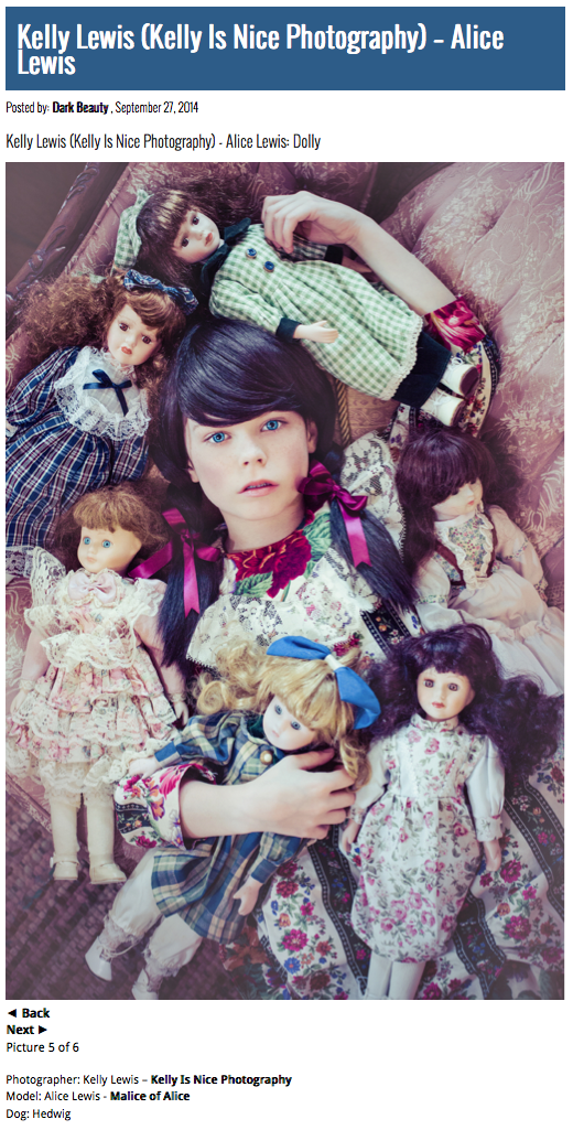 Alice Lewis as Porcelain Doll