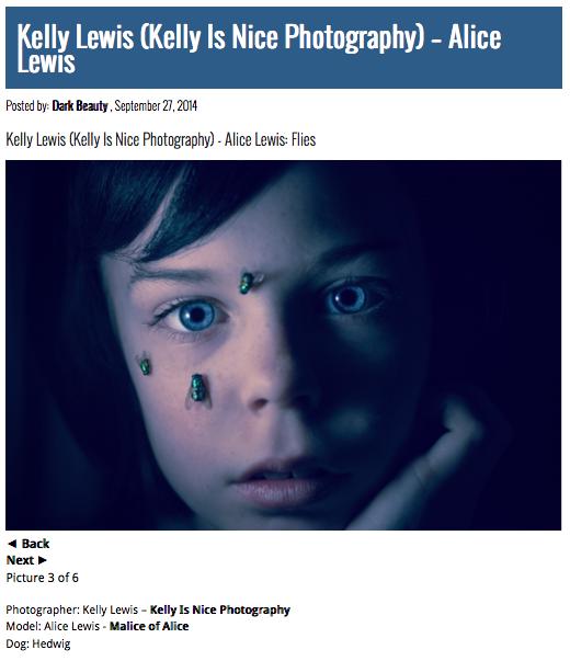 Alice Lewis with Dead Flies