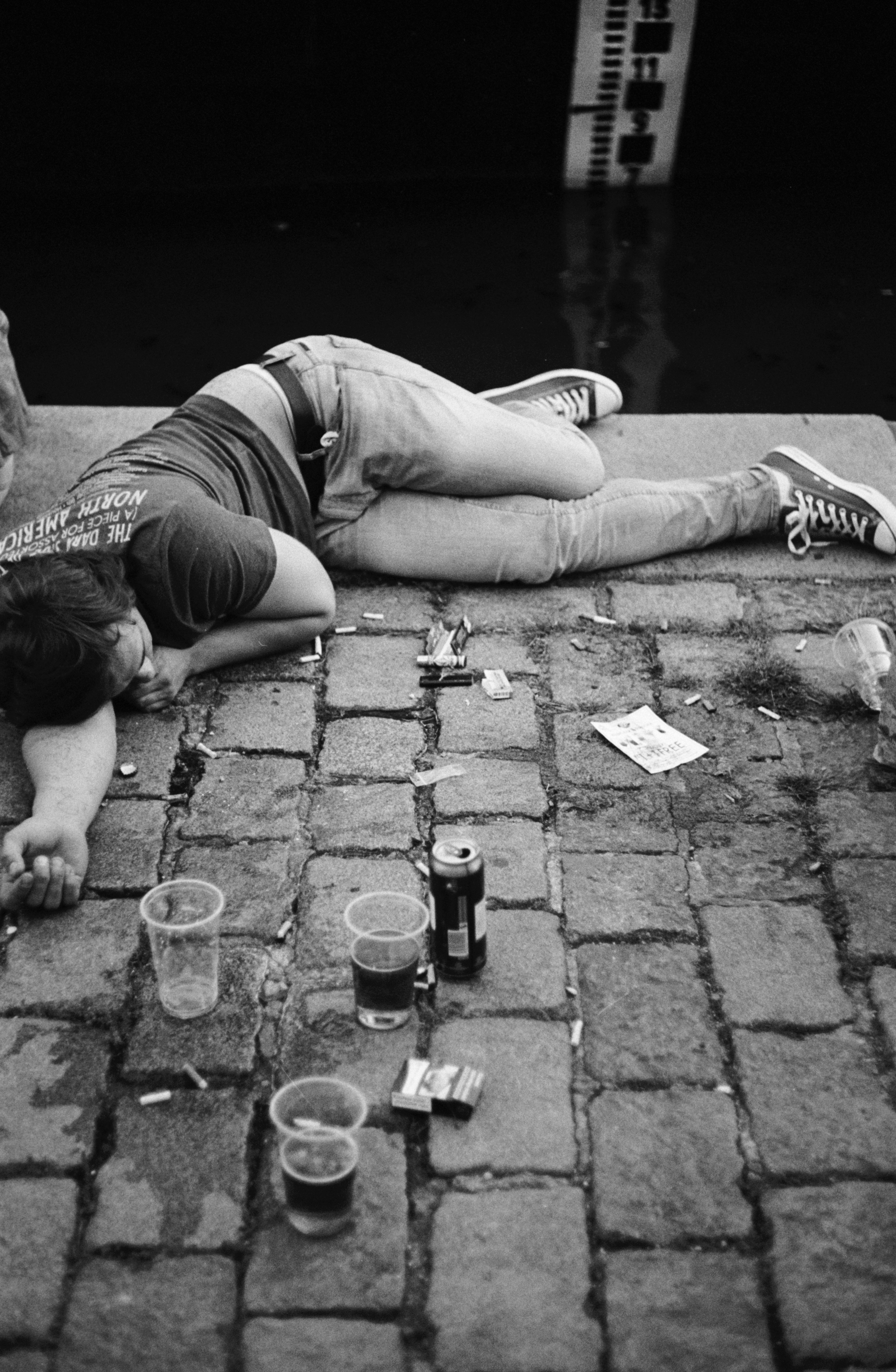 Aftermath of stag night, Prague