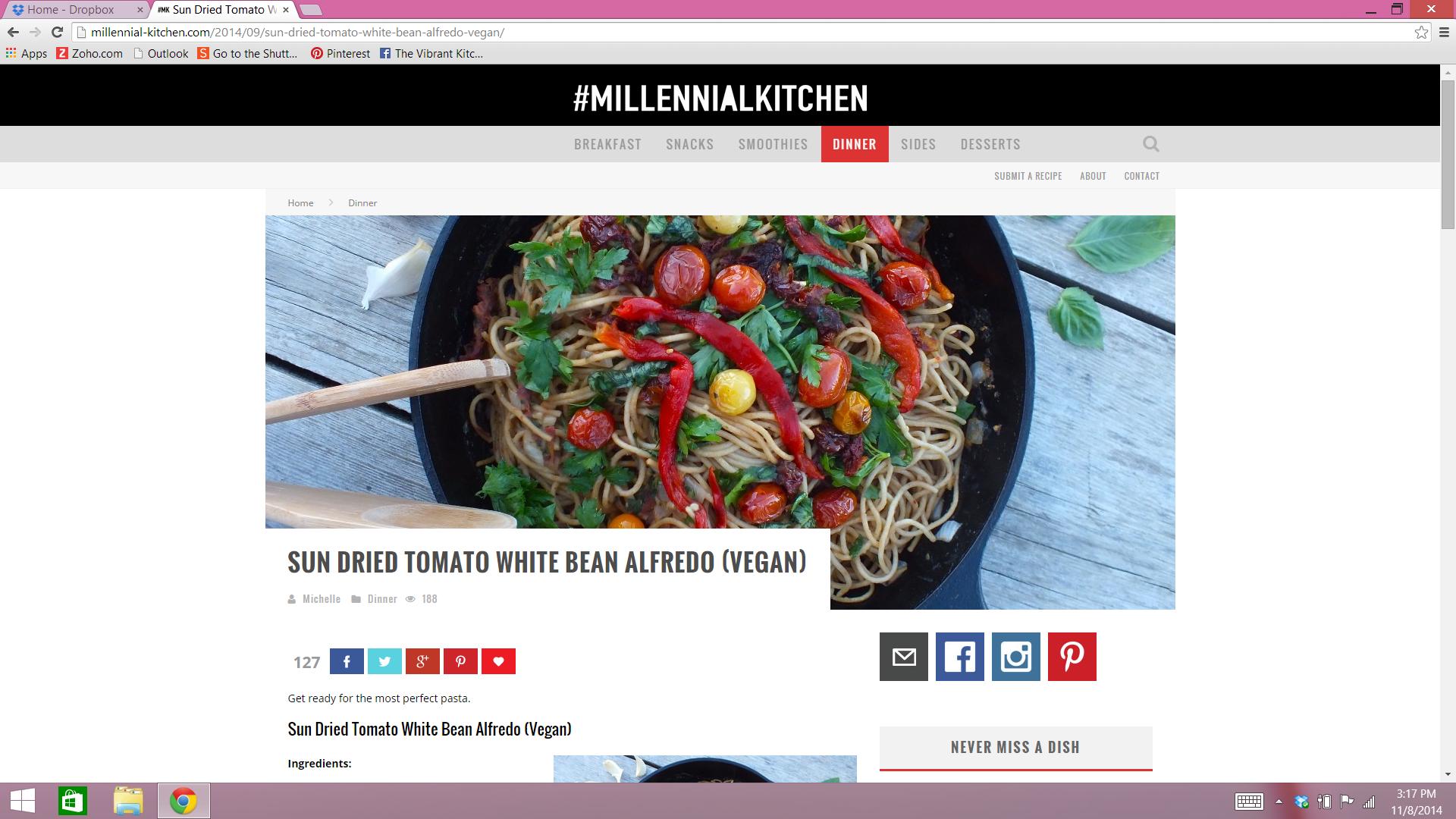 http://millennial-kitchen.com/2014/09/sun-dried-tomato-white-bean-alfredo-vegan/