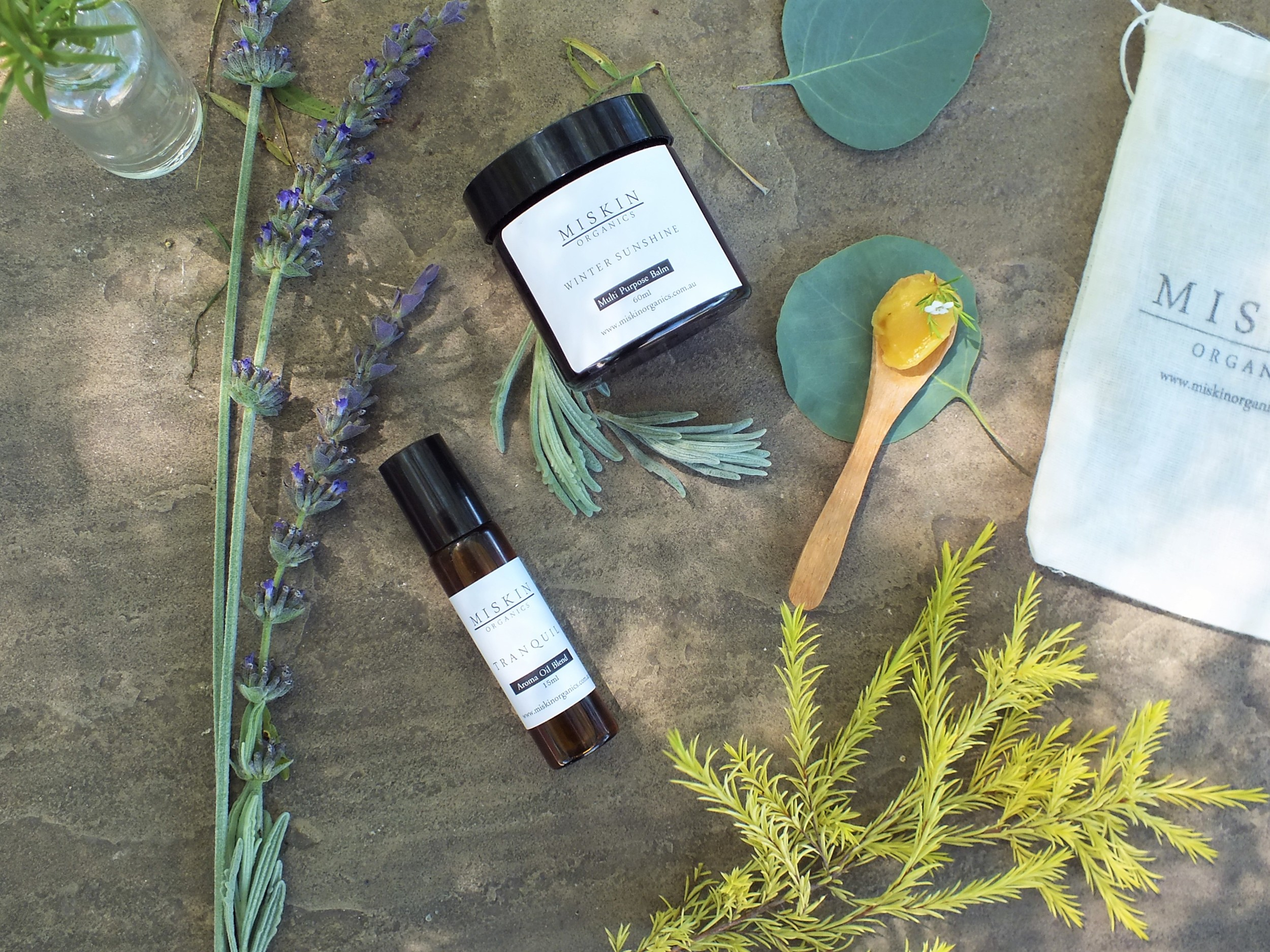 Tranquility Aromatherapy Oil and Winter Sunshine Balm