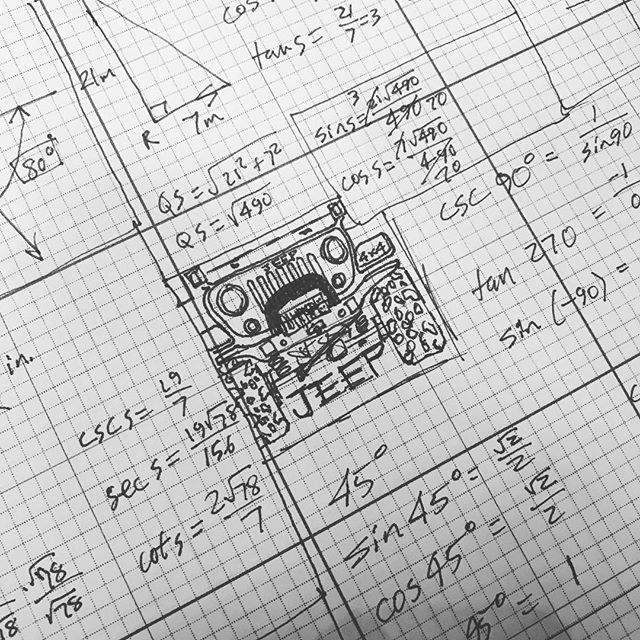 #Jeep = always the correct answer.  #art #artist #drawing #design #sketch #concept #draw #math #woodjewelry #wood #woodworking #designer #craftsman #maker #artisan #madeinusa #handmade #handcrafted  #wrangler #jeepwrangler #OIIIIIIIO #aev #aevconversions #jeeplife #goprepared #adventure #overland #jeepwave #cvtfamily @jeepofficial @aevconversions @rigidindustriesofficial @warnindustries @factor55llc @hiliftjacks @cvttents