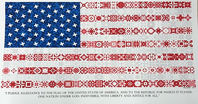 Happy #pledgeofallegiance Day! (See other posts in my feed for an animated version of this flag I created.  The image is created with around 15000 individual cells)  #proudamerican #usa #america #flag #usflag #oldglory #redwhiteblue #veteran  #freedom #patriot #liberty #army #navy #airforce #marines #coastguard #armedservices #artist #design #designer #art #wood #woodworking #maker #create #americanflag #honor #courage  @usarmy @usnavy @marines @airforcereserve @uscg @whitehouse