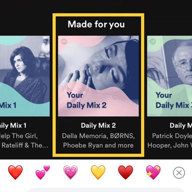 When a friend tags you in a post that your music was on his #dailymix playlist on @spotify along with @bornsmusic & Phoebe Ryan. That's some good company!  Y'all don't forget to follow us on Spotify— we'll be releasing our third EP soon! ✨