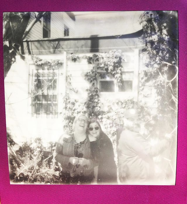 🦄🐋 #polaroid #blackandwhite #mother #brother #bk #backyards #narwhal