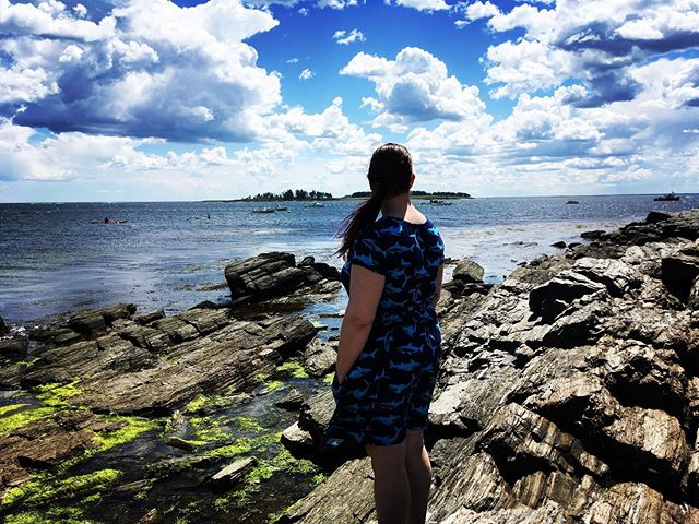 she smells sea smells by the sea shore five times fast #maine #summerbrigette #gooutside