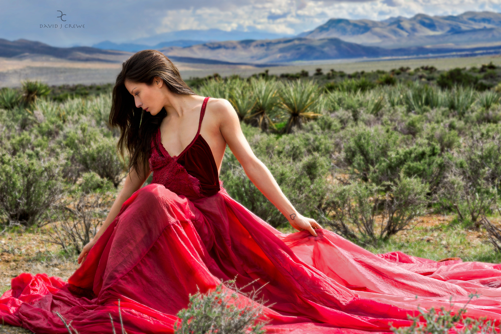 The second image from the series with Nanako and the incredible B2 system at Red Rock Canyon in Nevada!