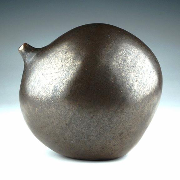Stoneware Bulb Vase in Bronze