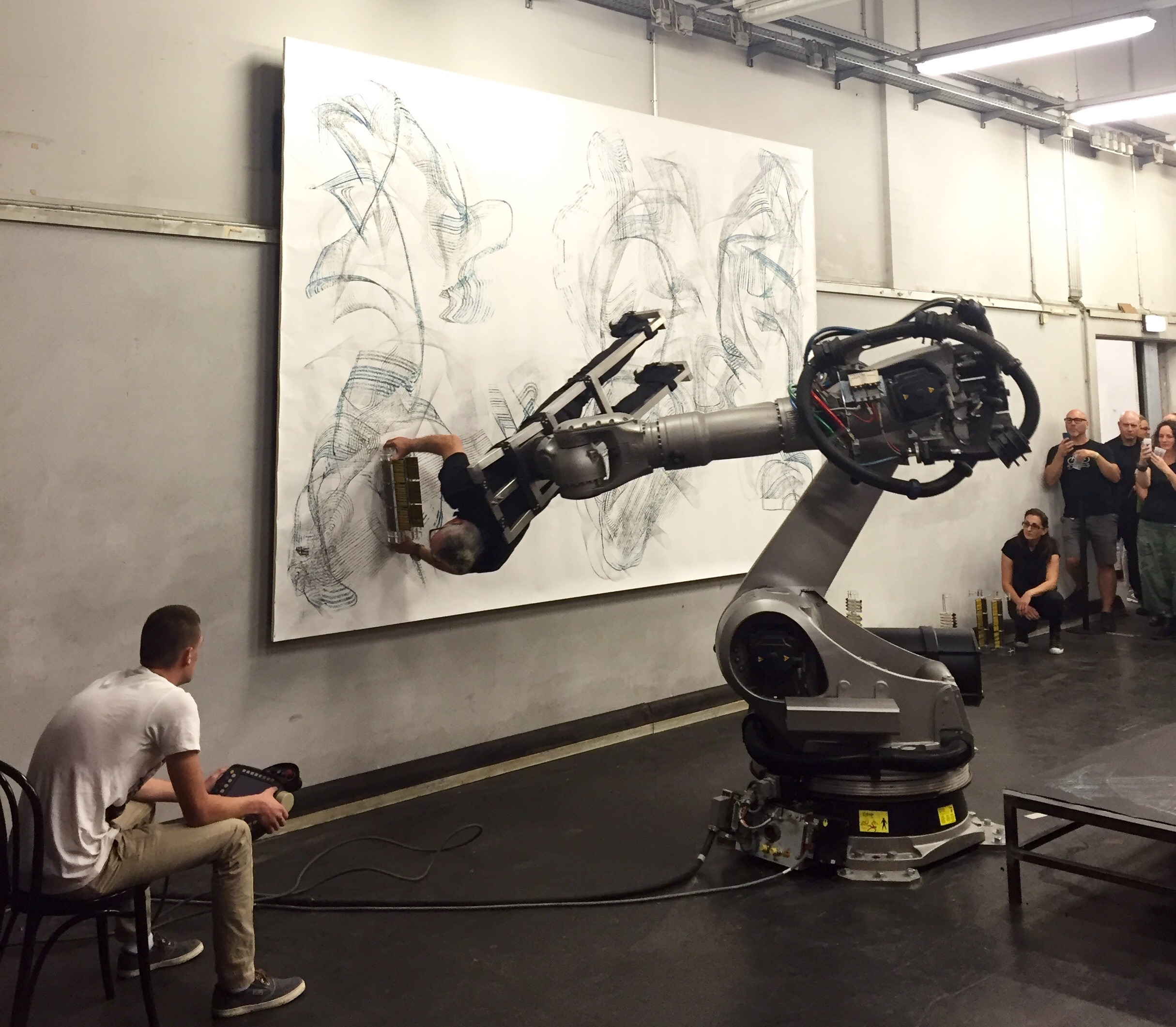 Performance by Dragan Ilic. A circularity of human/robot intention. Mesmerising to watch.