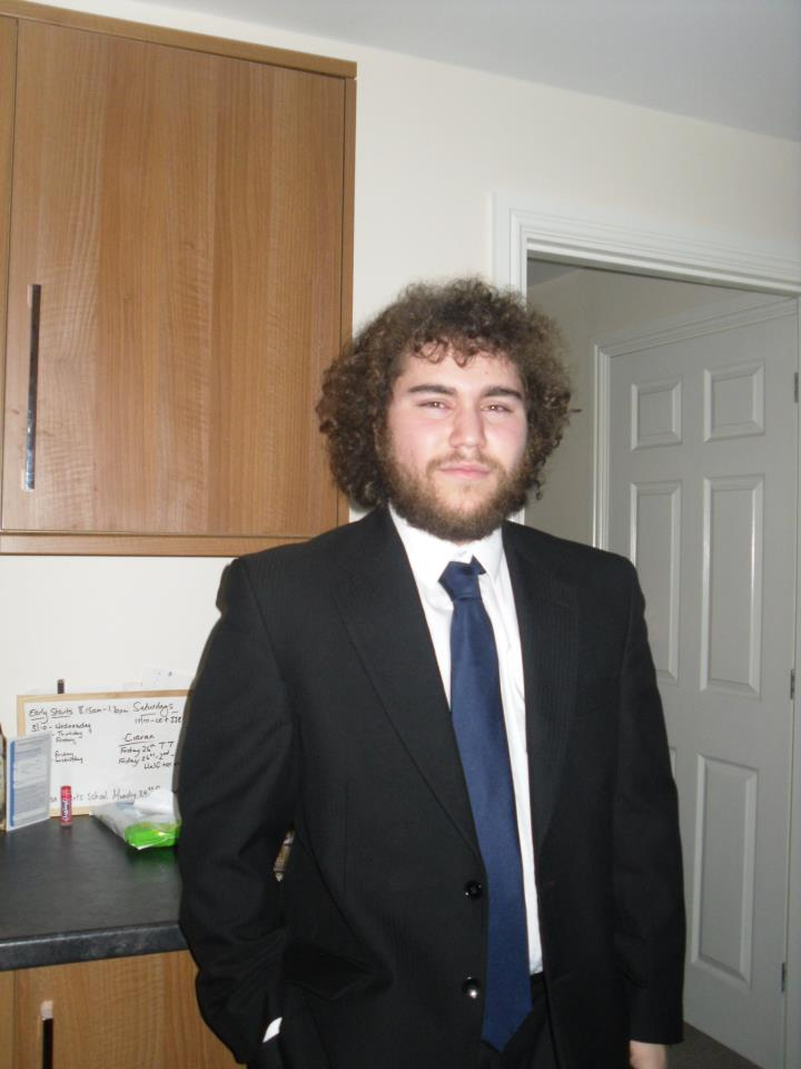 """This is my brother, computer scientist and Rubik's cube expert. He is not a musician, but he has excellent hair and is amazing with compilers. Apparently, in the cubing world he is known for his """"popularity-talent disparity."""""""
