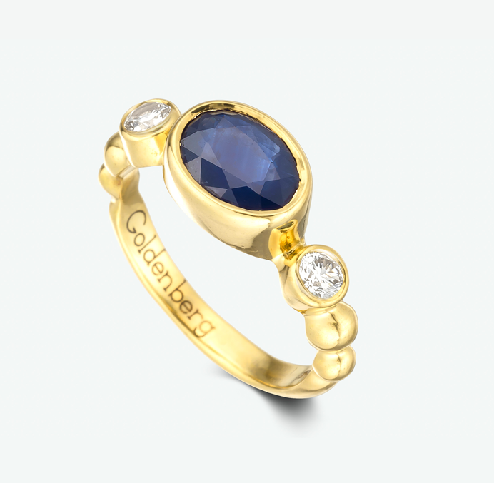Delicate and beautiful ruby ring composed of lustrous 14k yellow gold, vivid high quality ruby, and brilliant white diamonds. D: 0.06 ct.       R: 1.30 ct.