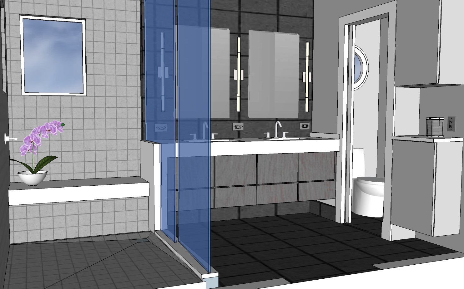 2016-01-10 designgene, DC modern, DC modern bath, modern bathroom, big shower remodel, waterfall counter, bathroom remodel,  (8).jpg