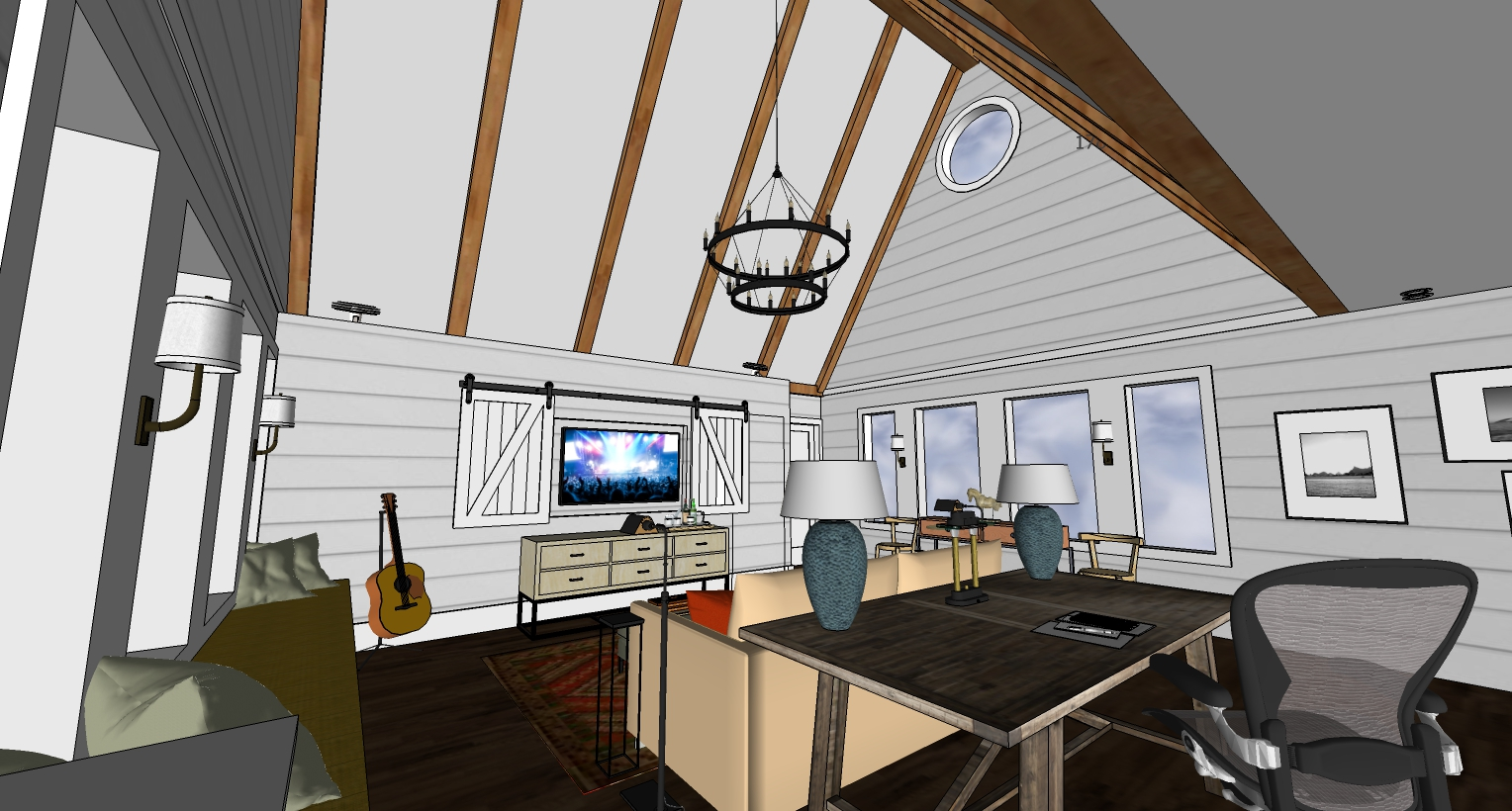 designgene, modern farmhouse, barndoors, family room remodel, Potomac home office, interior design, interior decorating 3.jpg
