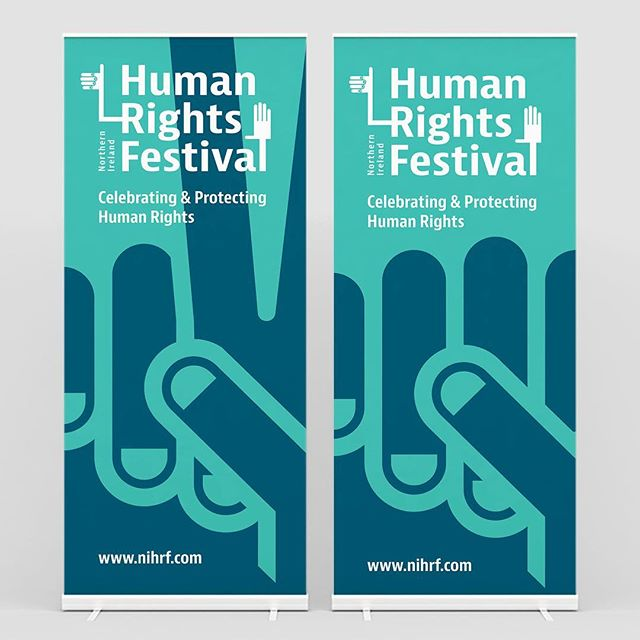 Roll-up banners designed for the Human rights Festival 2015.  Full case study in link.  _ #branding #identity #design #identitydesign #type #typography #print #graphic #graphicdesign #vsco #vscocam #minimal #minimalism #vector #human #humanrights #rights