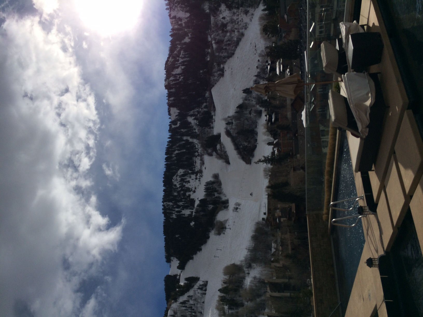 View from the little nell in Aspen