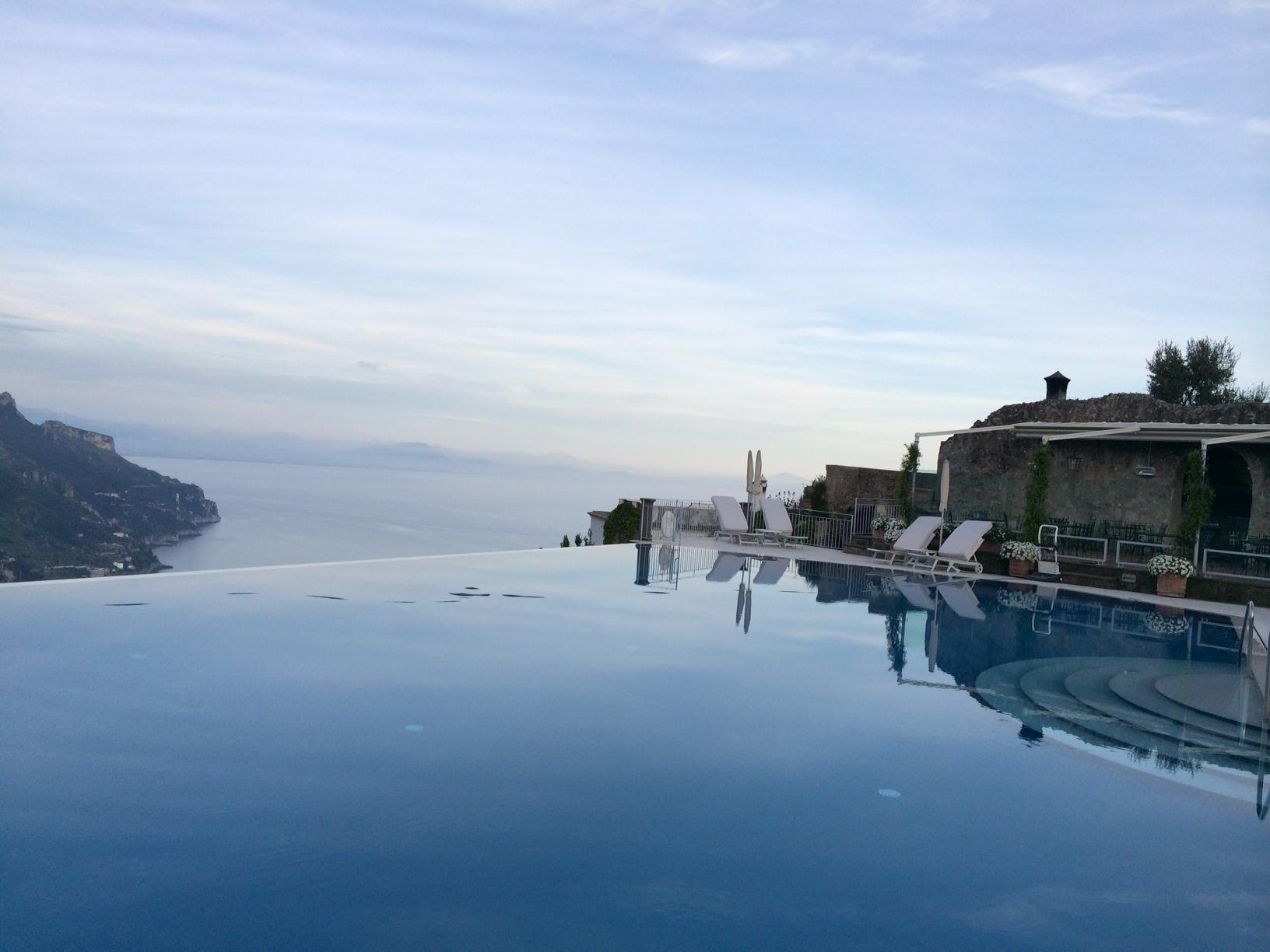 The incredible pool at Caruso, Ravello
