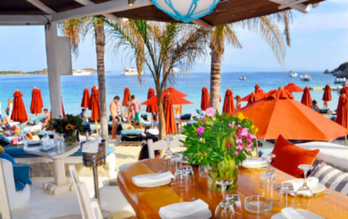 Come early for a quiet meal right on the beach, stay late for when the dj starts and everyone is up dancing. Great music, great people, and most importantly, incredible food. The menu includes fresh caught fish and vegetables from local gardens. Nammos reopens for the season in April!  Image via  Nammos
