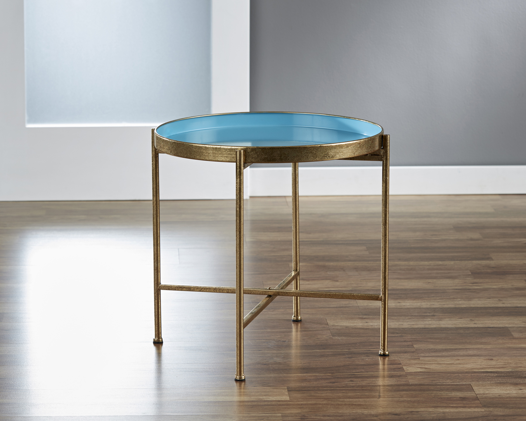 Large Gild Pop Up Tray Table in Blue