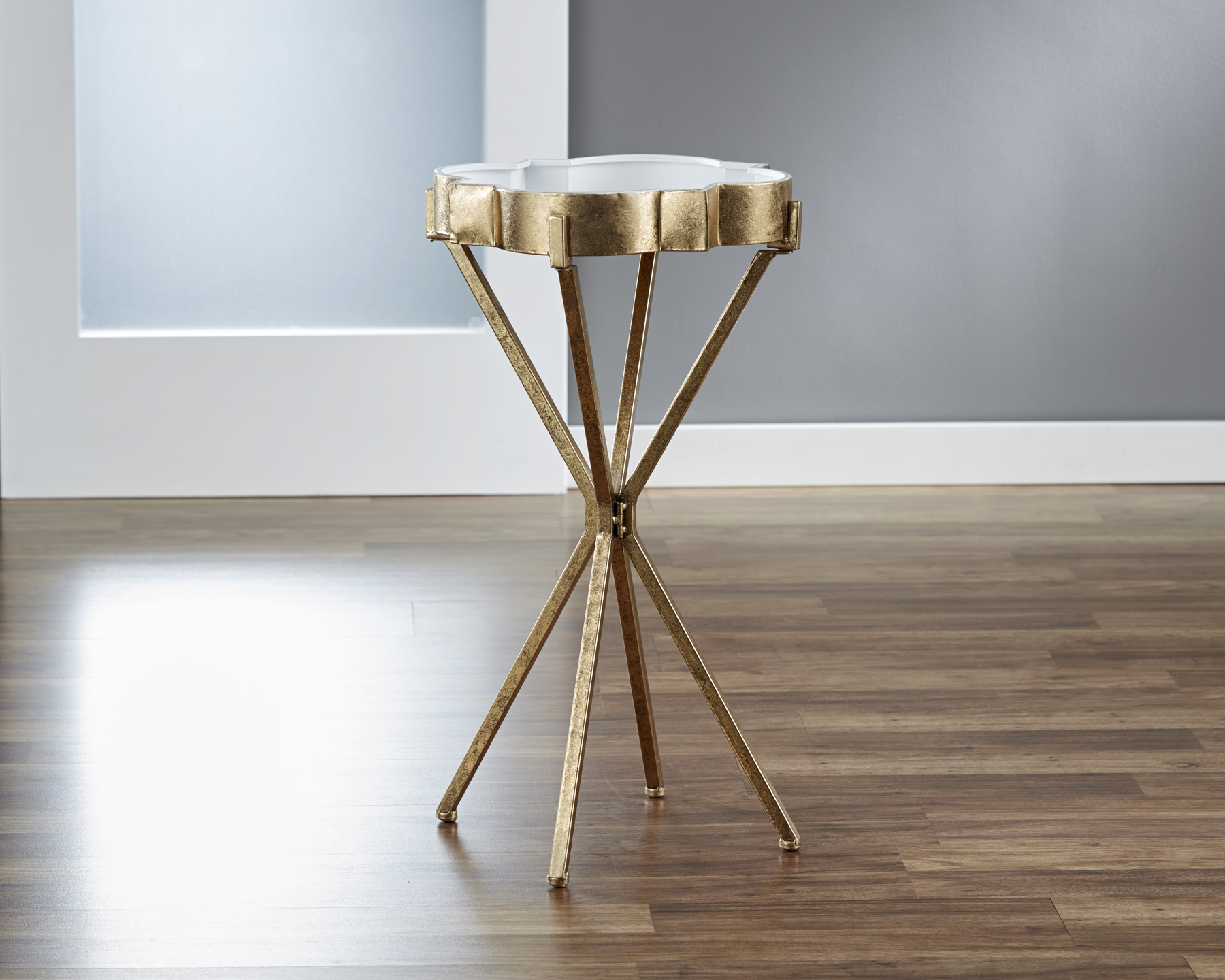 Quatrefoil Tray Side Table