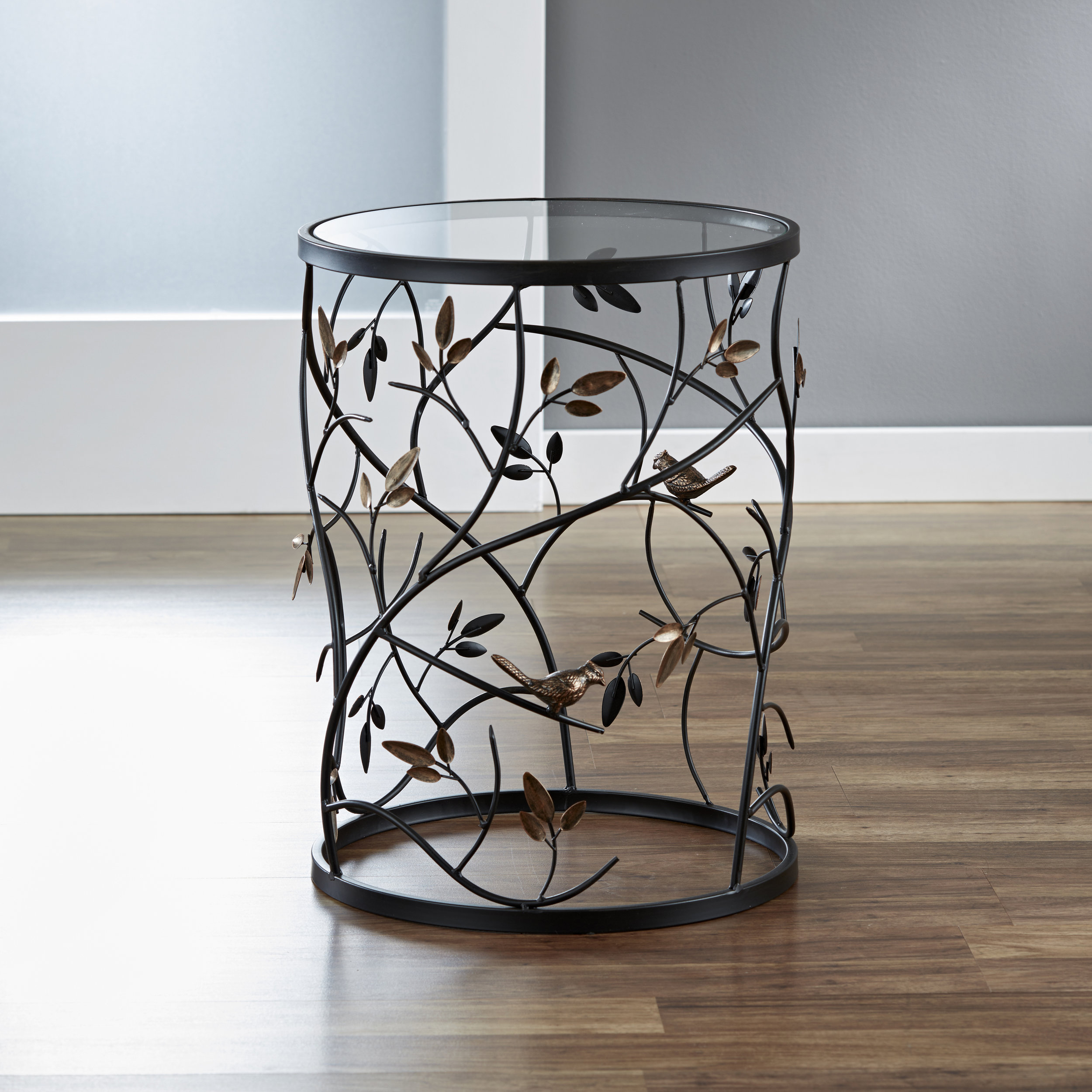 Large Bird and Branches Side Table