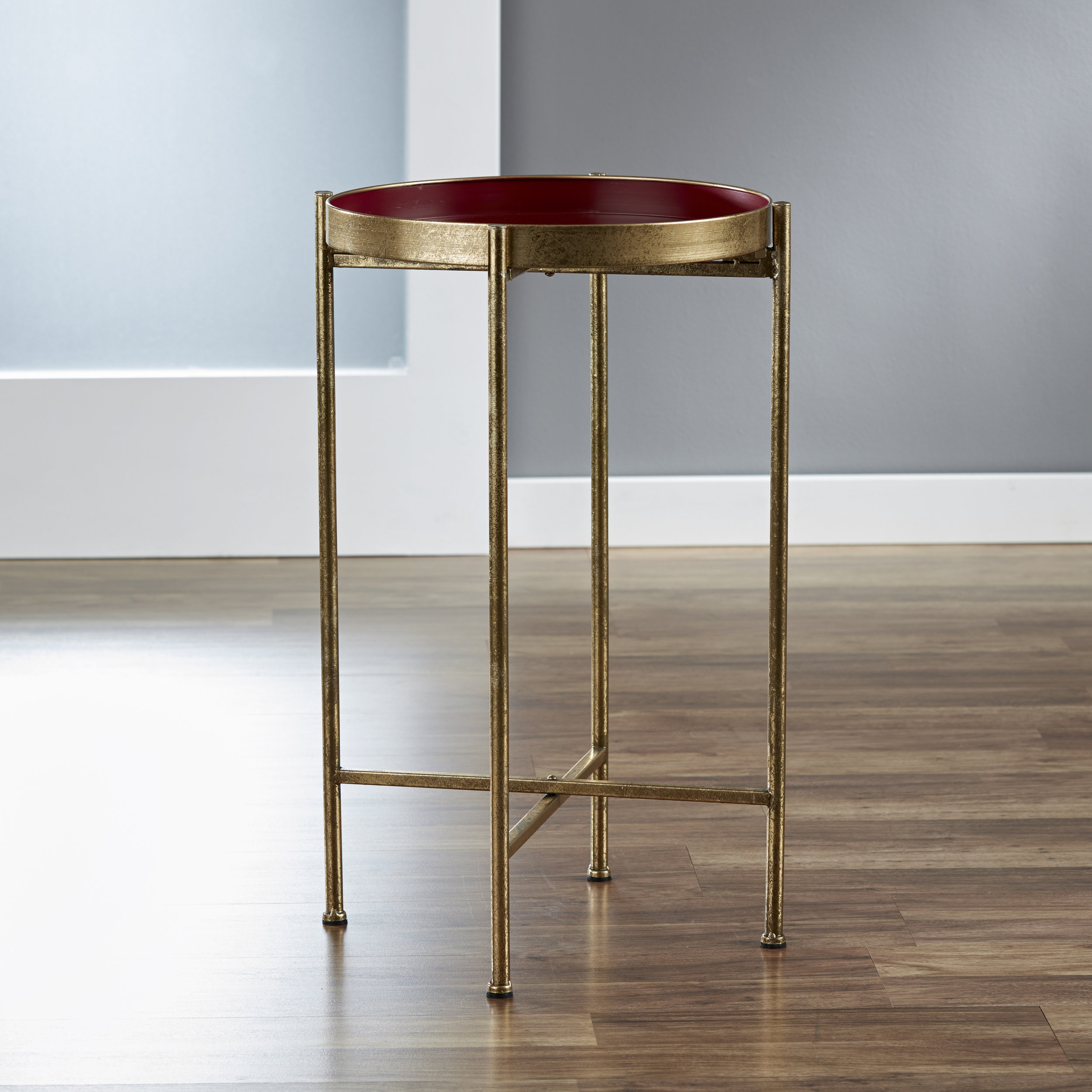 Small Gild Pop Up Tray Table in Red