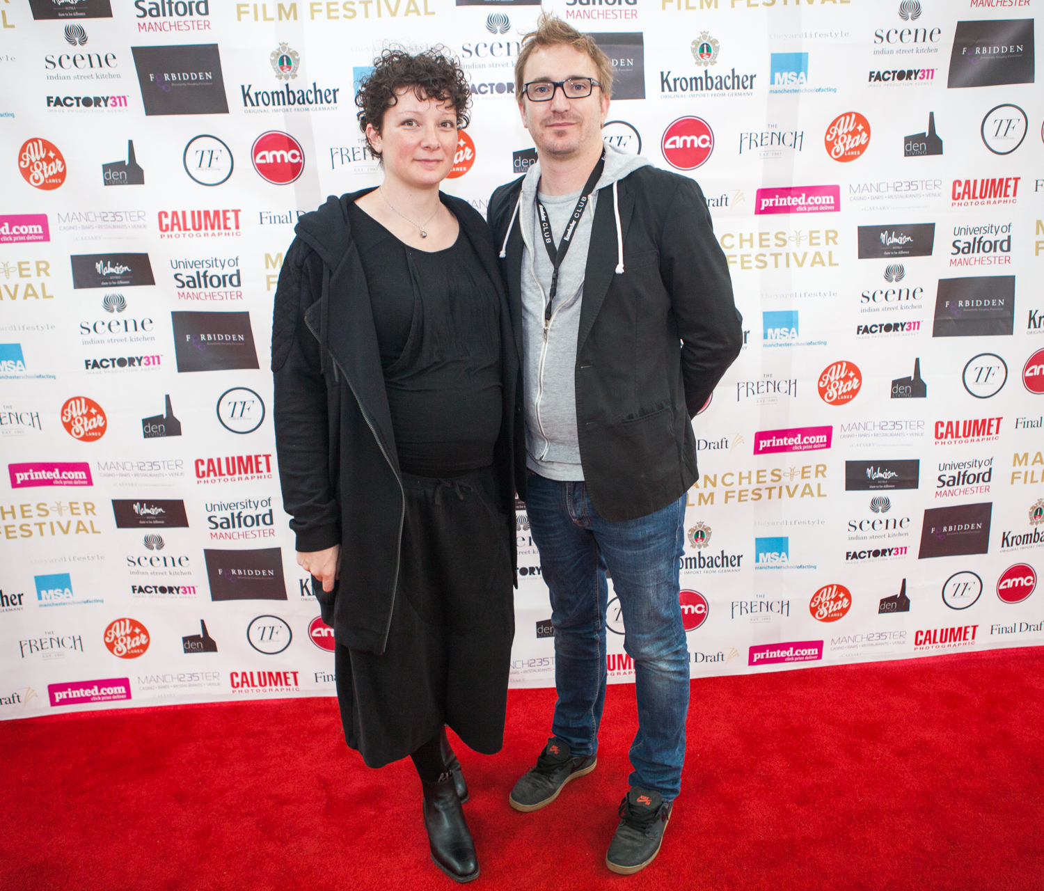 'Love is Now' producer Behren schulz and his wife, Sarah,  looking relaxed before the UK premiere of the well received Australian love story.