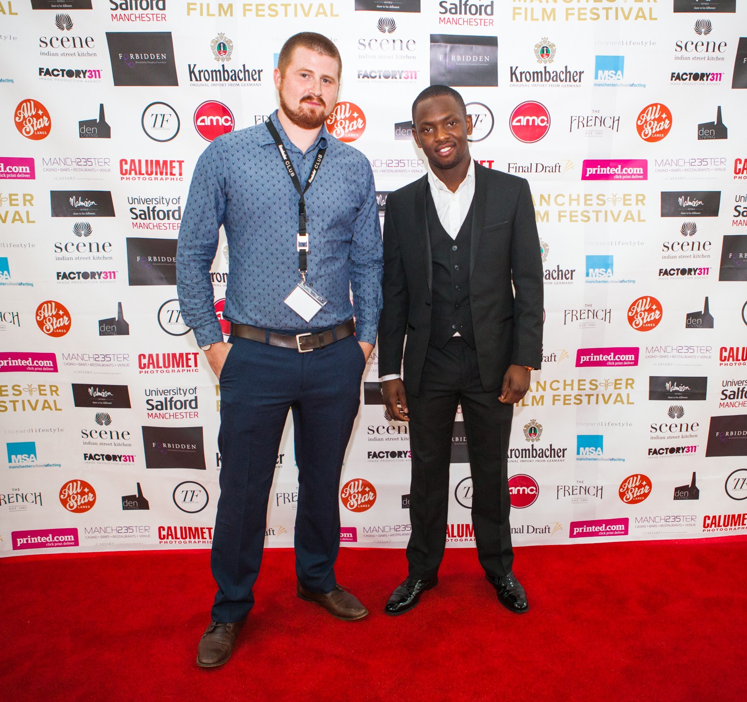 'One word' director Caleb shaffer and his outstanding lead actor Joshua Okusanya.