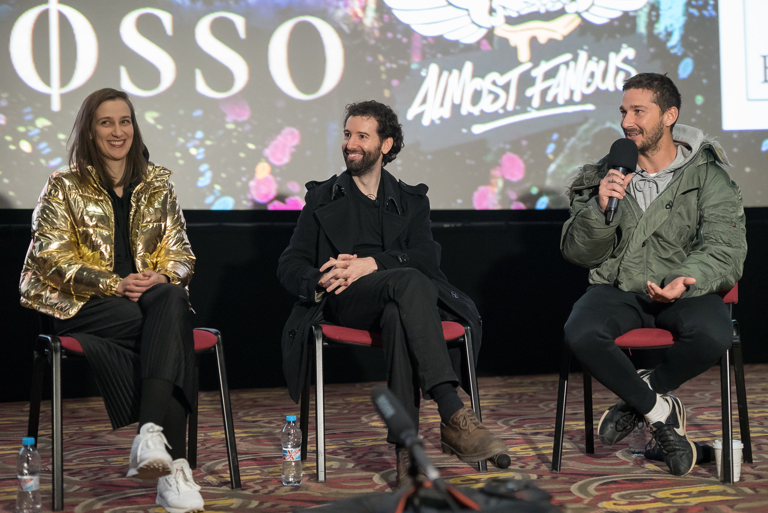 LaBeouf, Rönkkö & Turner at MANIFF2018 Filmmaker Studio