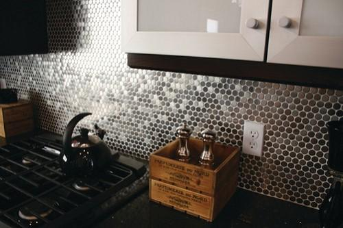 Stainless penny tile