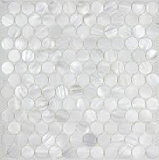 light gray penny tile