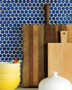 Blue penny tile