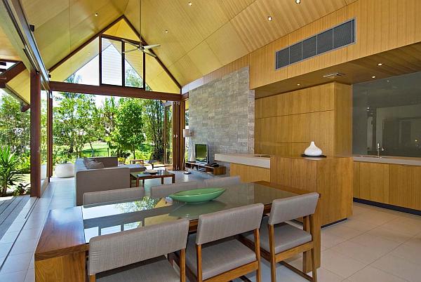 Indoor to outdoor kitchen