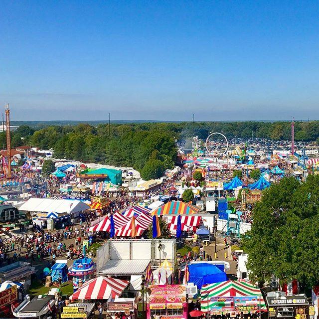 Ferris wheel view 🎡 #imscared #greatheights #ncstatefair