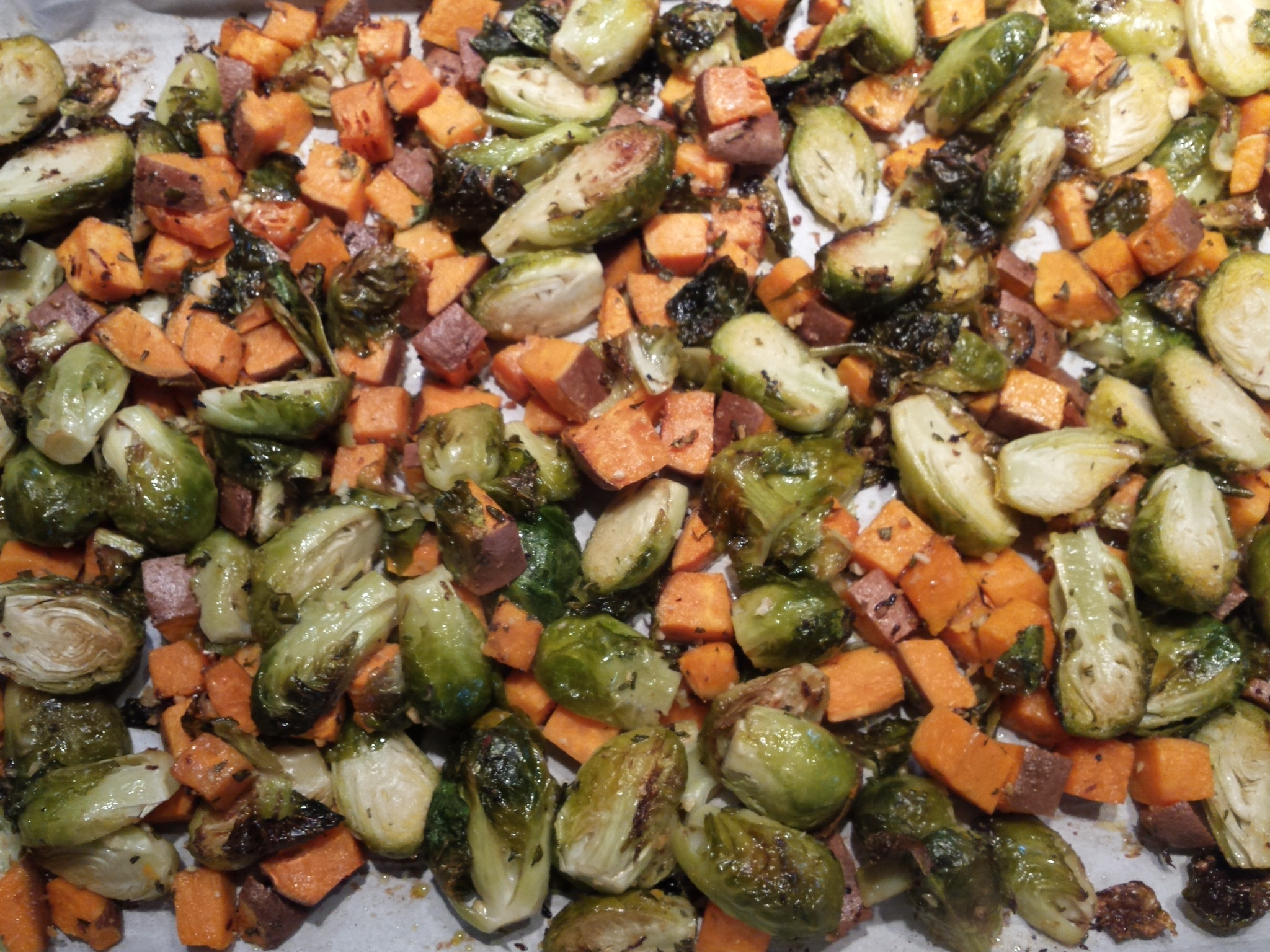 Roasted Brussel Sprouts (w Yams)