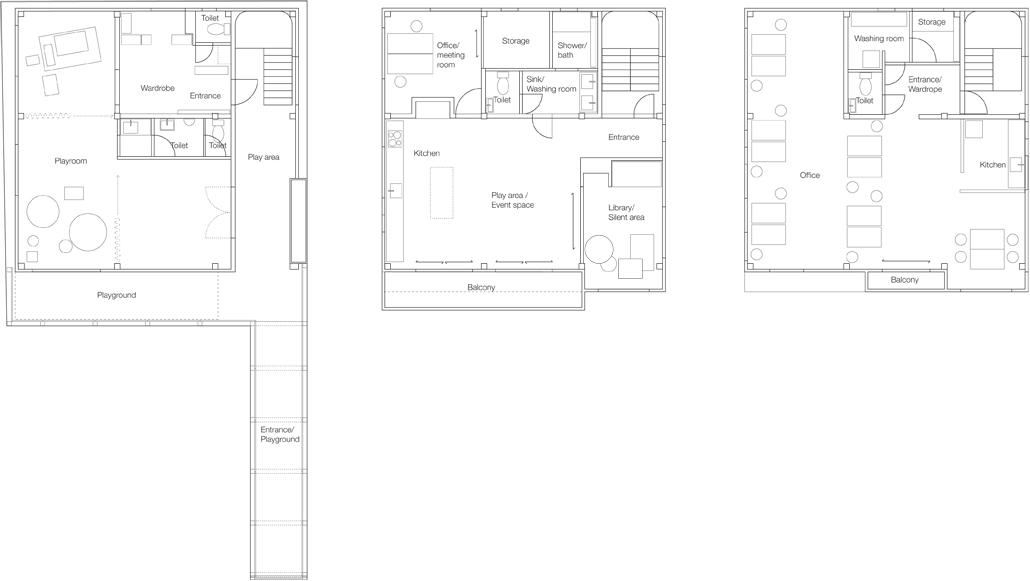 Floor plans.  Hokuou   - Architecture & Design.