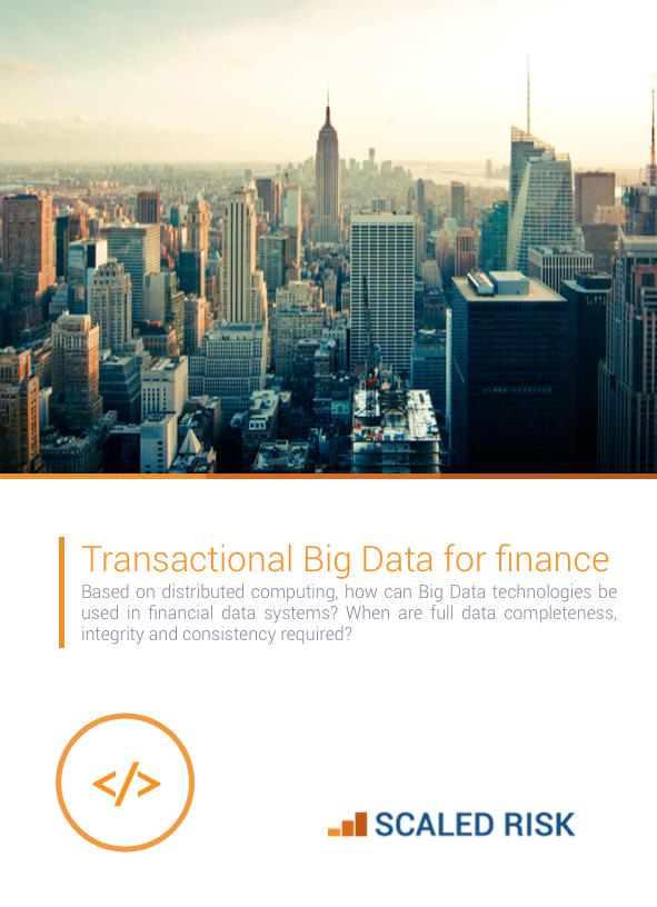 TECHNICAL PAPER: Transactional Big Data for Finance