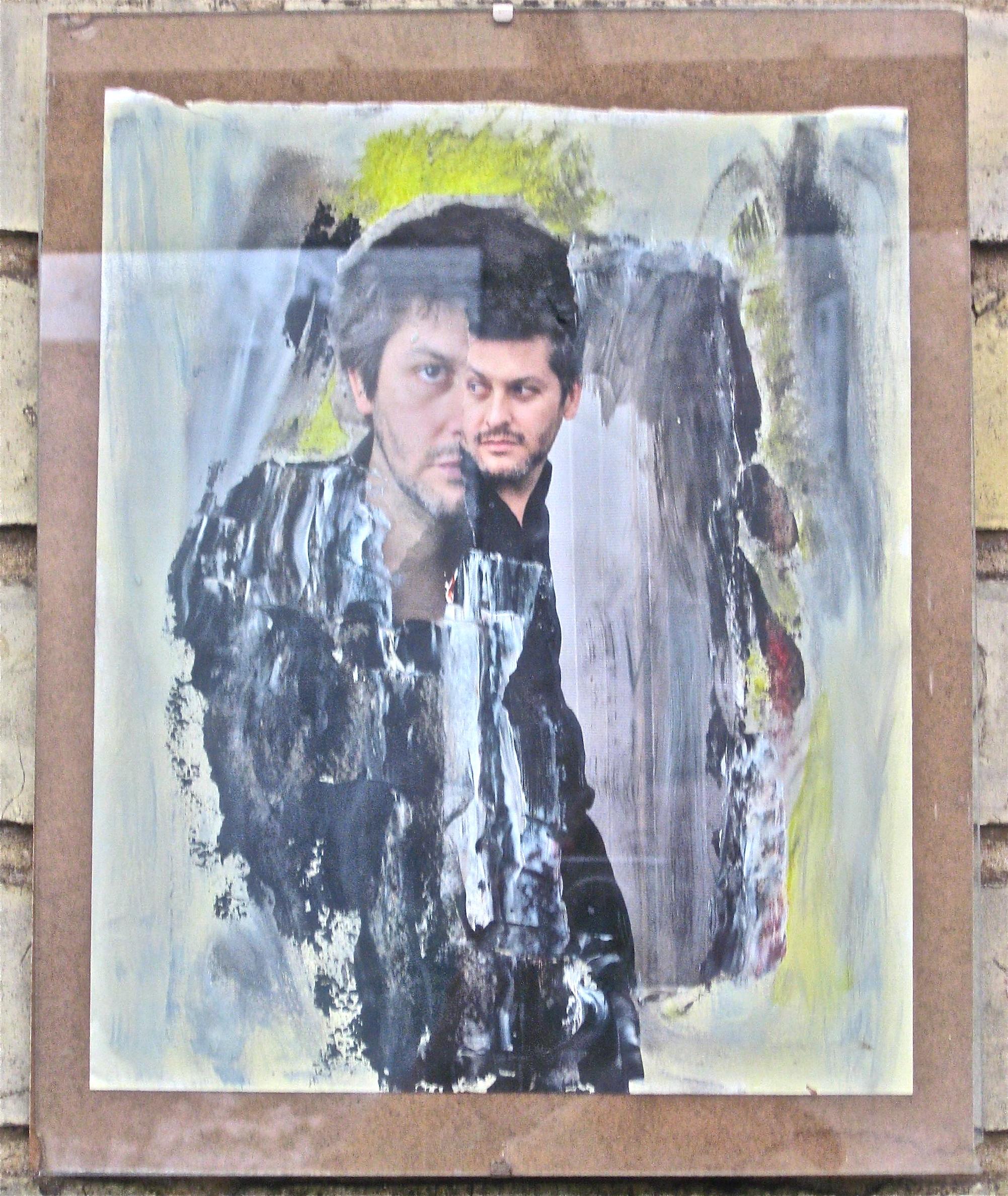 Parisian Boy, oils on photo-montage by HOFFMAN