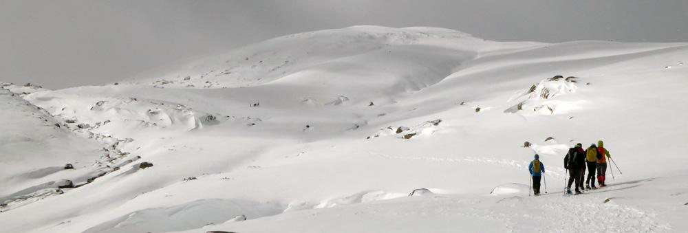 raqraquetas de nieve en gredos