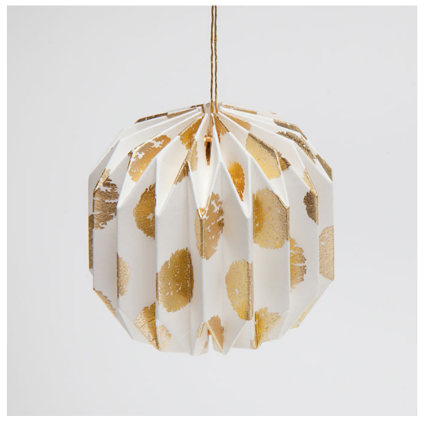 GOLDEN DOTS PAPER BAUBLE