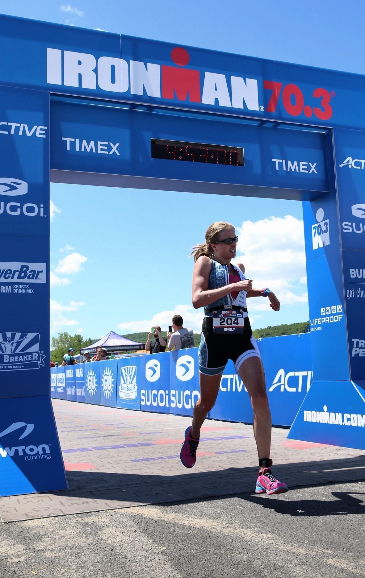 All smiles crossing the finish line.