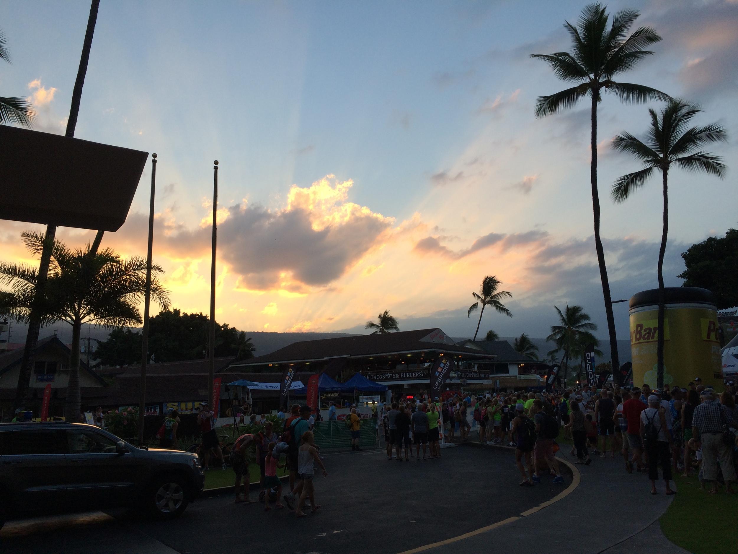 Sunrise over Kona