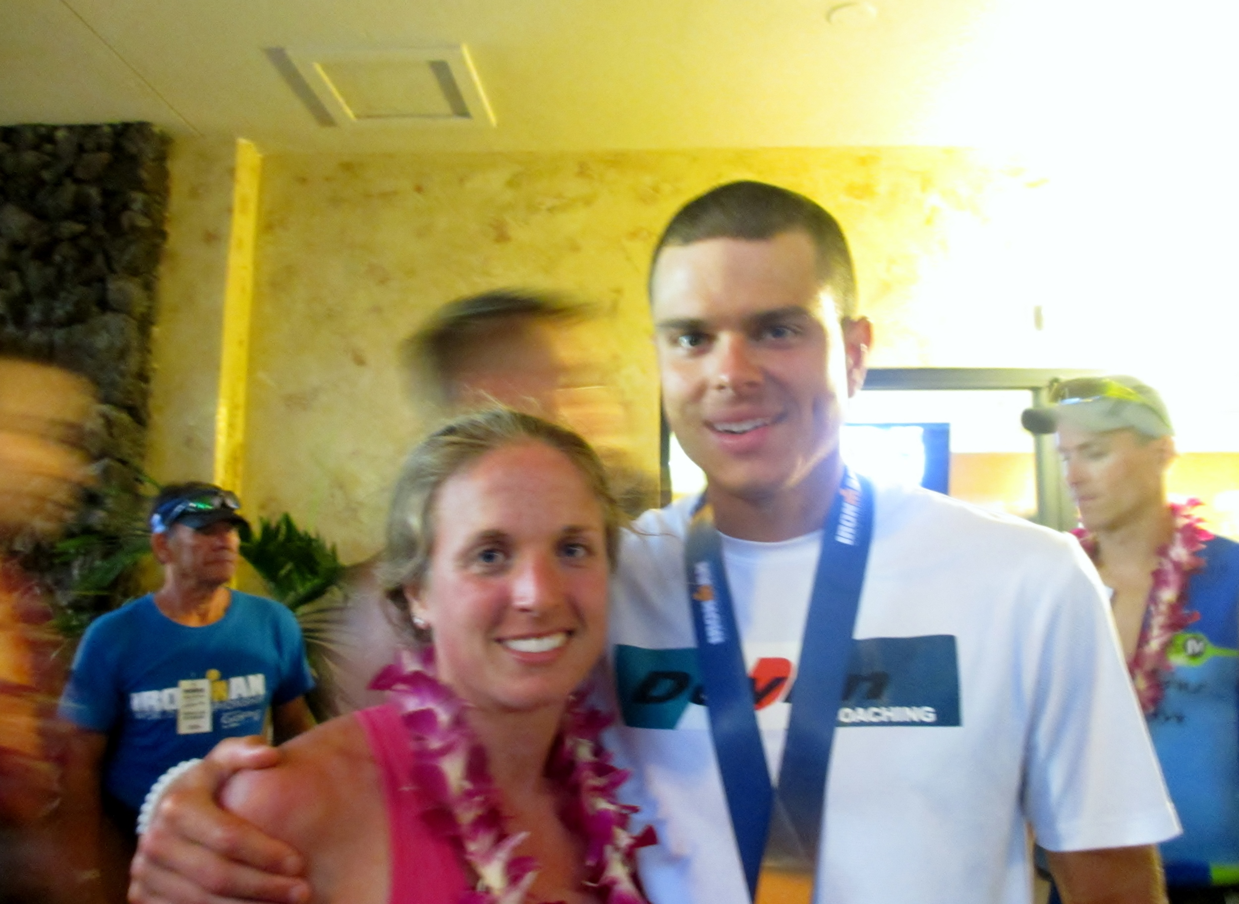 Me and Pat. Tired, but happy first-time Ironman finishers.